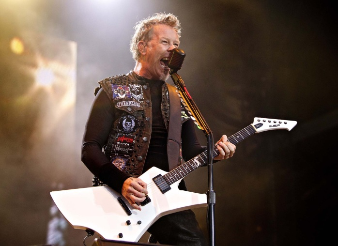 James Hetfield, lead vocalist of the hea